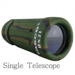 Small Tasco 8 x 21 Camouflage Color Monocular Telescopes